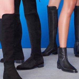 最高送$500礼卡Stuart Weitzman 美鞋热卖  收一字带、过膝靴