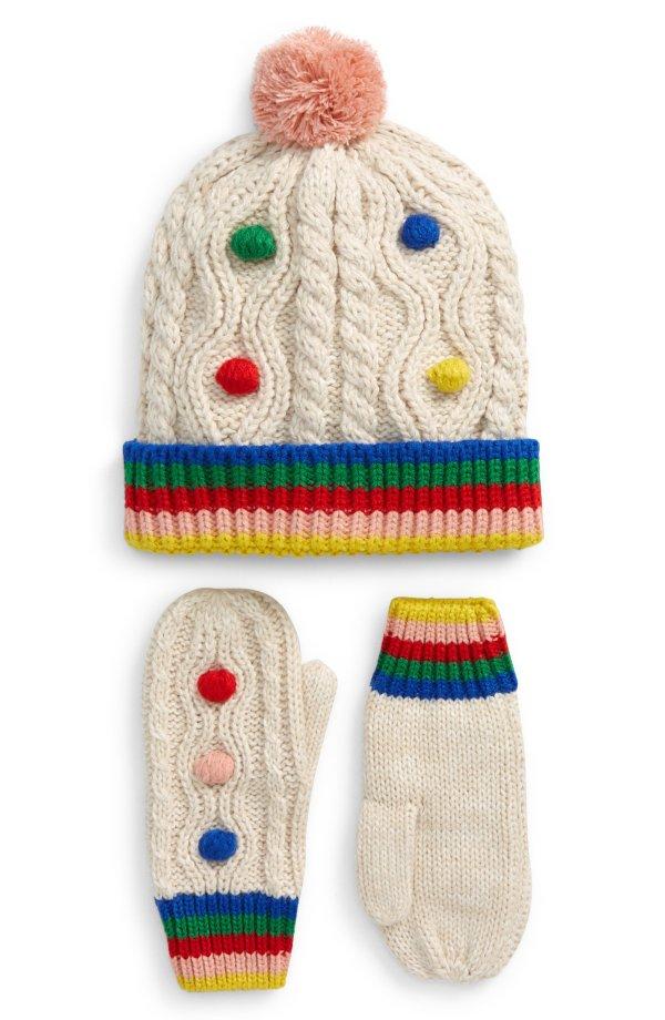 儿童针织帽子手套