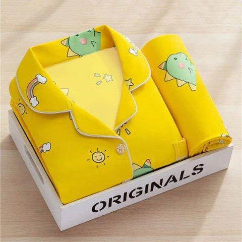 黄色小恐龙睡衣套装