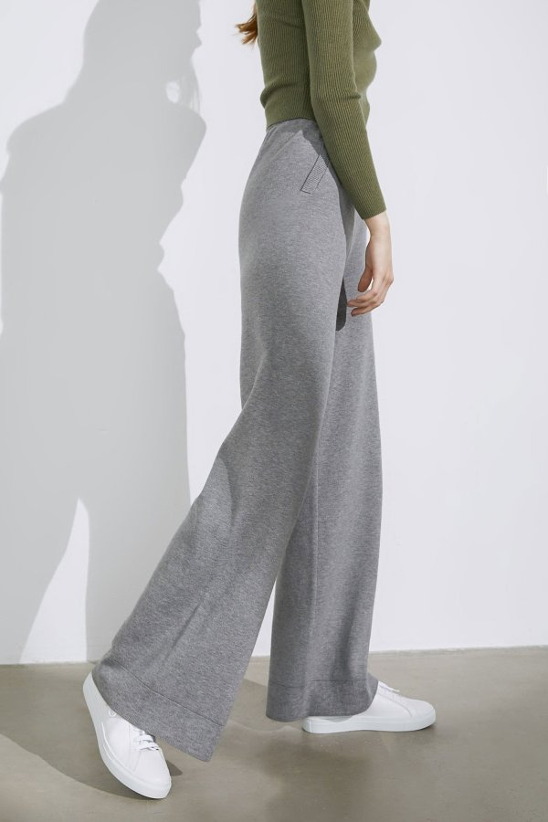 Essential Grey Wide 阔腿裤