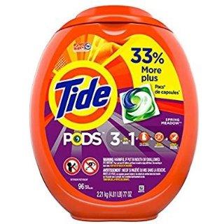 $16.42 包邮Tide Pods 三效合一果冻洗衣球 加大装96个,多款可选