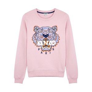 KenzoTiger-embroidered cotton sweatshirt