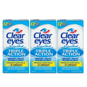 Clear Eyes 强效滋润眼药水 3瓶