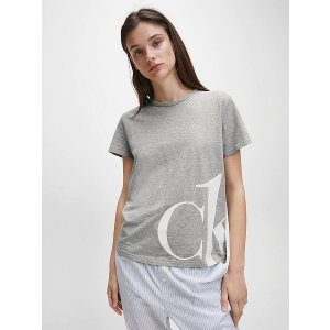 Calvin Klein灰色logoT恤