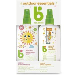 低至4折限今天:Babyganics 儿童夏季必备防晒霜及驱蚊喷雾等促销