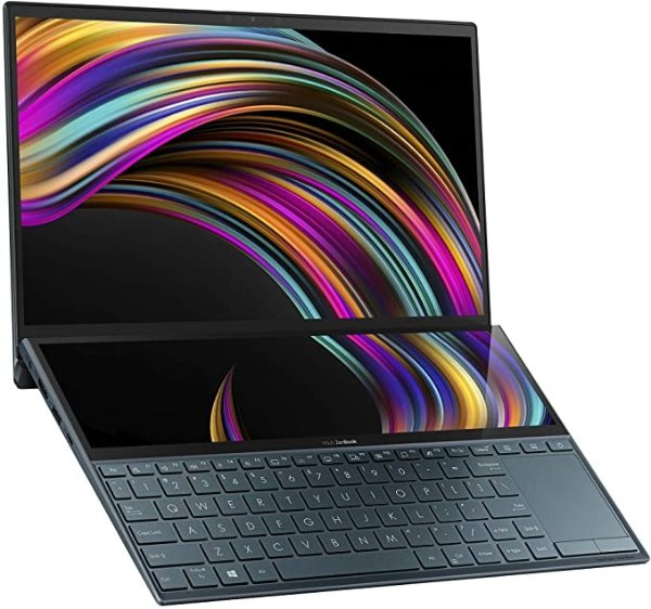 "ASUS ZenBook Duo UX481 14"" FHD NanoEdge Bezel Touch Display, Intel Core i7-10510U CPU, 8GB RAM, 512GB PCIe SSD"