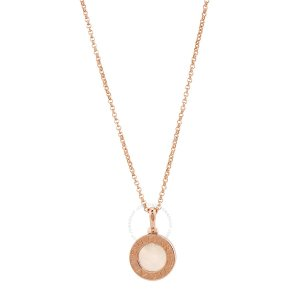 Bvlgari满$1000+额外减$5018K 玫瑰金珍珠母贝项链
