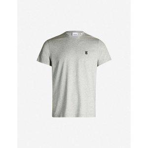 BurberryLogo-embroidered cotton-jersey T-shirt