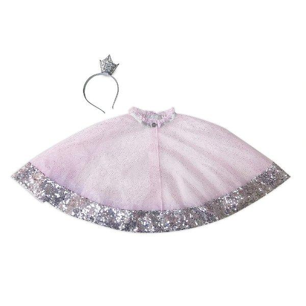 女童皇冠发箍+公主风斗篷