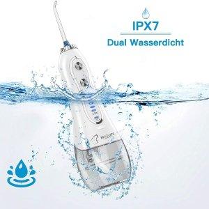 仅今天!€29.99收套装 带6个喷嘴BESTOPE 水牙线 续航2周 IPX7 防水 300ml水箱 便携小巧