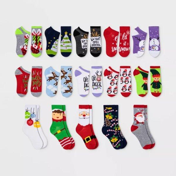圣诞节主题袜子 15双