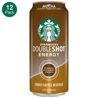 Starbucks Doubleshot 摩卡咖啡能量饮料, 15 Oz 12罐