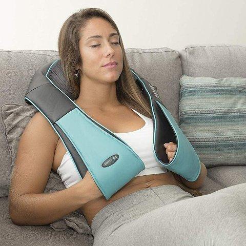 史低价:Invospa 日式可加热指压深柔肩颈按摩仪
