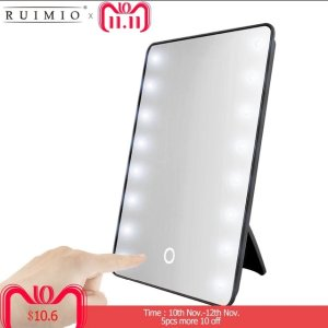 AliexpressMakeup Mirror with 16 LEDs Cosmetic Mirror with Touch Dimmer Switch Battery Operated Stand for Tabletop Bathroom Bedroom Travel-in Makeup Mirrors from Beauty & Health on Aliexpress.com | Alibaba Group