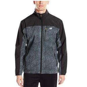 Prime Members Free Shipping New Balance Men's All Motion Printed 4 Way Stretch Jacket On Sale