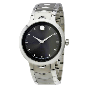 EXTRA $150 OFFMOVADO Luno Black Dial Stainless Steel Men's Watch 607041