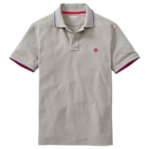 Timberland| Men's Millers River Slim Fit Tipped Pique Polo Shirt