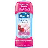 Suave 止汗除臭剂  野樱花香味 长效24小时 2瓶装