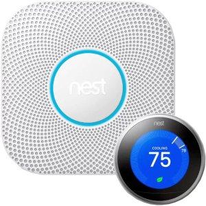 Nest烟雾和一氧化碳警报器+温度控制器