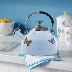 $68.56+免邮Lenox 高颜值 马卡龙配色+蝴蝶花卉图案茶壶 2.5夸脱