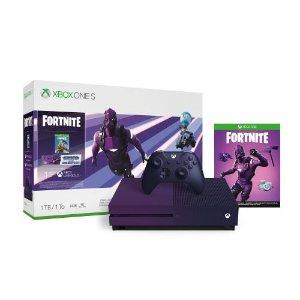 $249.99, 再送25%返现Xbox One S 1TB《堡垒之夜》最新限定版套装 灭霸紫