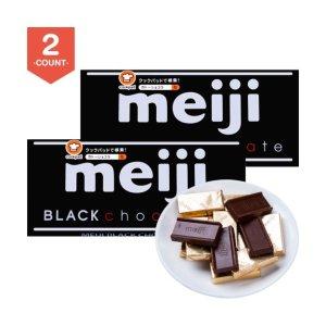 日本MEIJI明治 钢琴黑巧克力 50g * 2盒