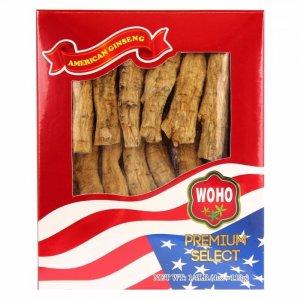 买4盒或以上7.5折WOHO #130.4 美国花旗参短枝特大号 4oz盒装