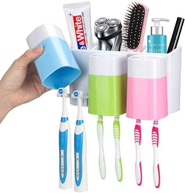 壁挂式牙刷牙膏架