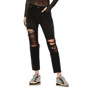 AFRMCyrus Ripped High Waist Ankle Jeans