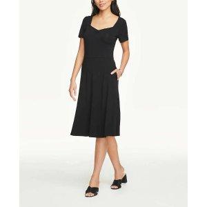 Ann Taylor法式复古小黑裙