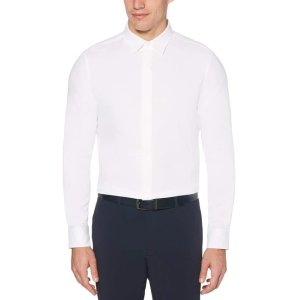 Perry EllisTotal Stretch Slim Fit Solid Twill Shirt