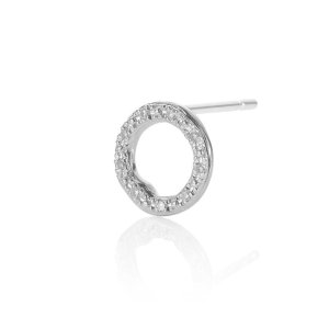 Monica VinaderRiva Diamond Circle Stud Single Earring | Monica Vinader