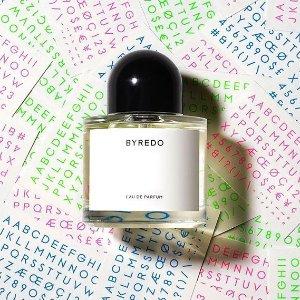 无门槛8折 €101收封面同款香水Byredo 瑞典禁欲系小众香氛8折大促 收香水、身体护理等
