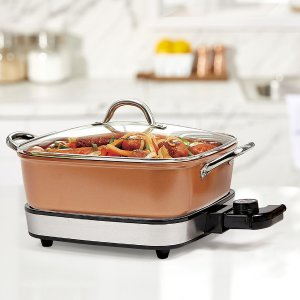 Copper Chef 2-Piece Electric Skillet, 12