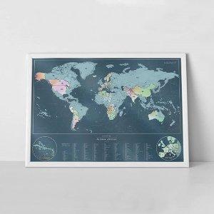 2件9折 刮刮地图热卖Scratch Map 我和你各自看过的风景 加起来就是整个世界