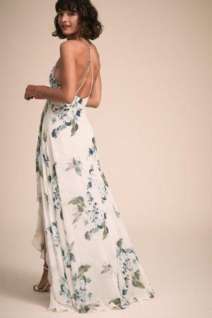 Farrah Dress Ohana Soft Sage Blue Multi  in  Occasion Dresses | BHLDN