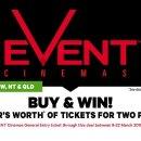 $12.15(原价$22)超长使用期仅今日:Event Cinemas 电影票团购 多家电影院可用