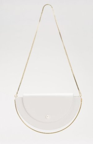 Ecru Emissary | Kitayama Studio | White Half Moon Bag Price
