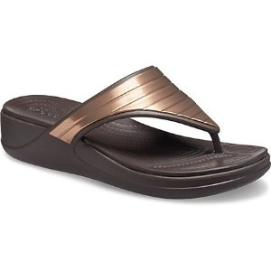 Crocs女士坡跟凉鞋