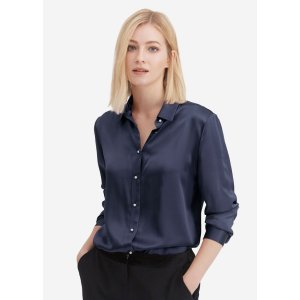 LILYSILKClassic Pearl Button Silk Shirt