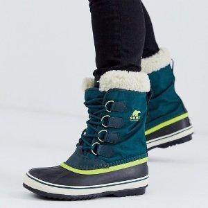 $79.97包邮(原价$135)2020跨年礼:Sorel Carnival 女款冬靴 海蓝色黄金码