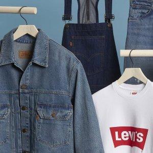 一律7折 Logo T恤$28LEVI'S官网 2021首度大促 修身舒适牛仔裤$79起