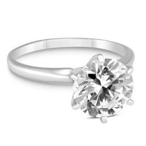 现价$999(原价$5999)独家:Szul 精选1克拉14K白金钻石戒指热卖