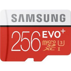 $89.72 免税包邮Samsung EVO+ 256GB microSDXC UHS-I U3 存储卡