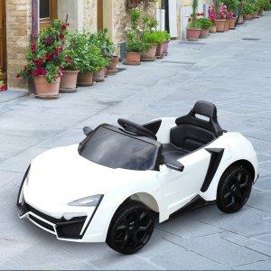 白色6V遥控车儿童车