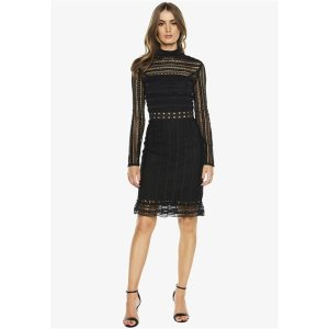 Bardot黑色高贵连衣裙