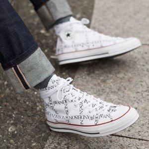 JW ANDERSON断码拼手速logo联名帆布鞋
