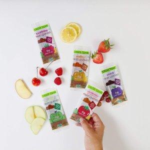 覆盆子口味30条仅$9补货:Stretch Island 混合口味天然水果果丹皮 48条装$11.97