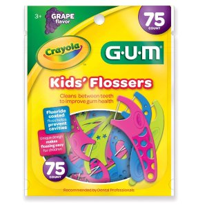 $2.43Crayola 蜡笔主题葡萄口味儿童牙线,3岁+宝宝适用