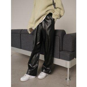 StylenandaWide-Leg Faux Leather Pants